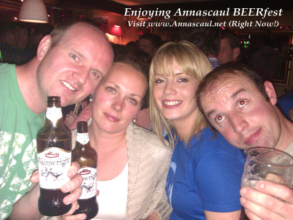 Nice youngish people enjoying the annual Annascaul BEERfest